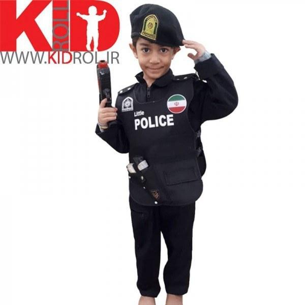 جلیقه پلیس با کلاه کج و لوازم
