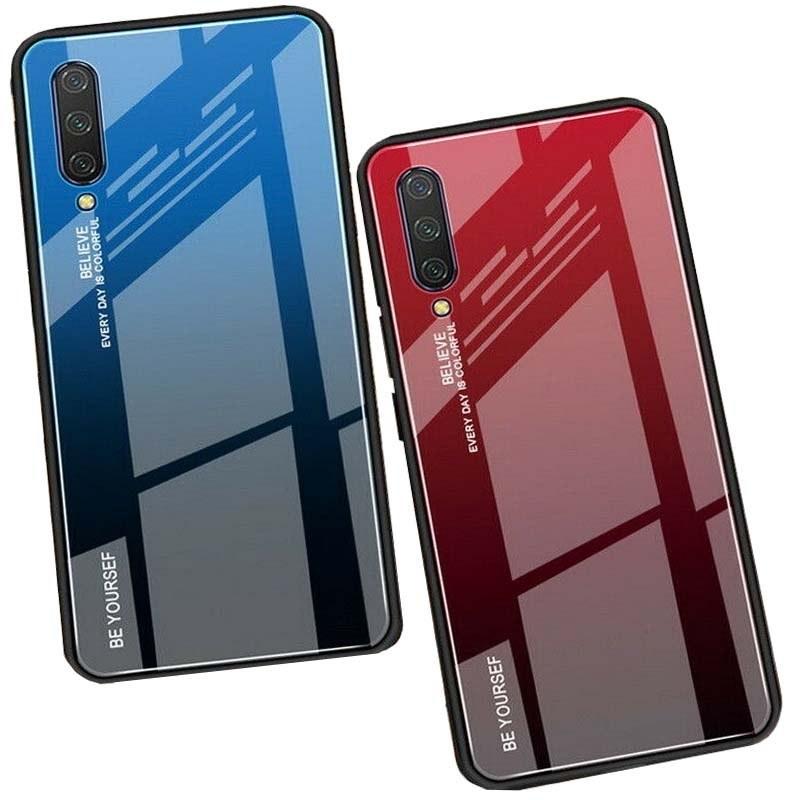 قاب پشت گلس شیائومی Glass Gradient Color Case Xiaomi Mi A3 | Mi CC9e |