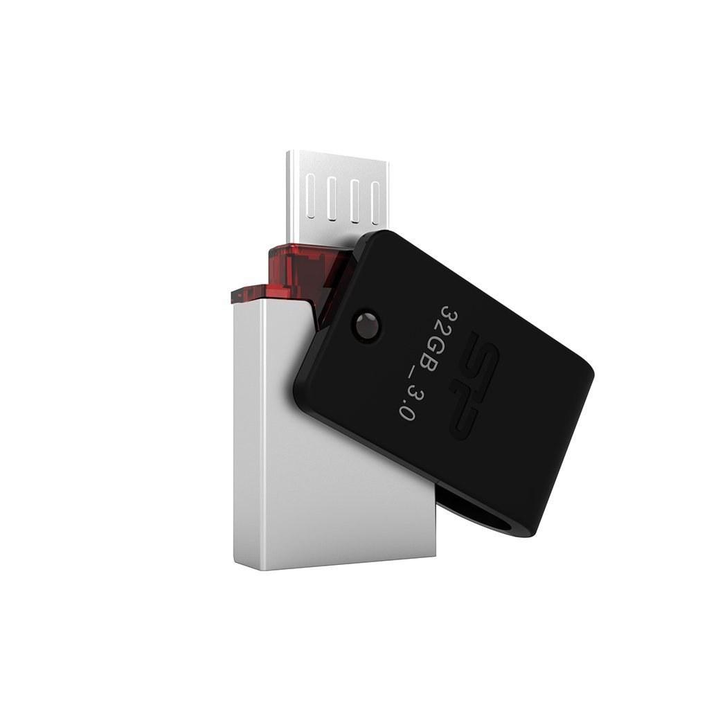 تصویر فلش مموری سیلیکون پاور Mobile X31 USB 3.0 OTG - 32GB Flash Memory Silicon-Power Mobile X31 USB 3.0 OTG - 32GB