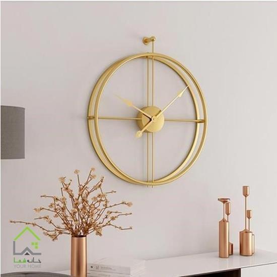 تصویر ساعت دیواری فلزی مدل رینگی
