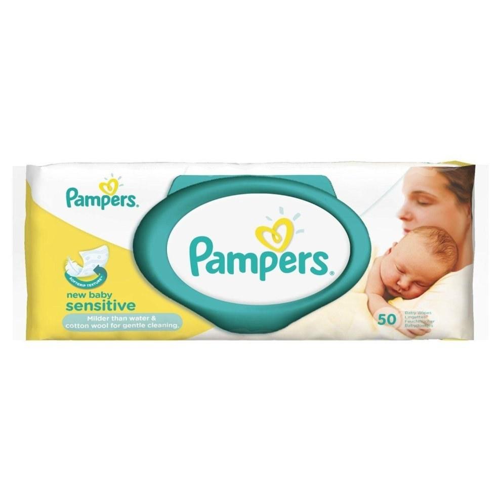 تصویر دستمال مرطوب درب دار نوزاد و بچه پریما پمپرز Pampers Prima ضد حساسیت sensitiv