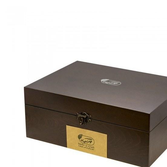 تصویر جعبه چوبی ۶۰ عددی دمنوش مهرگیاه