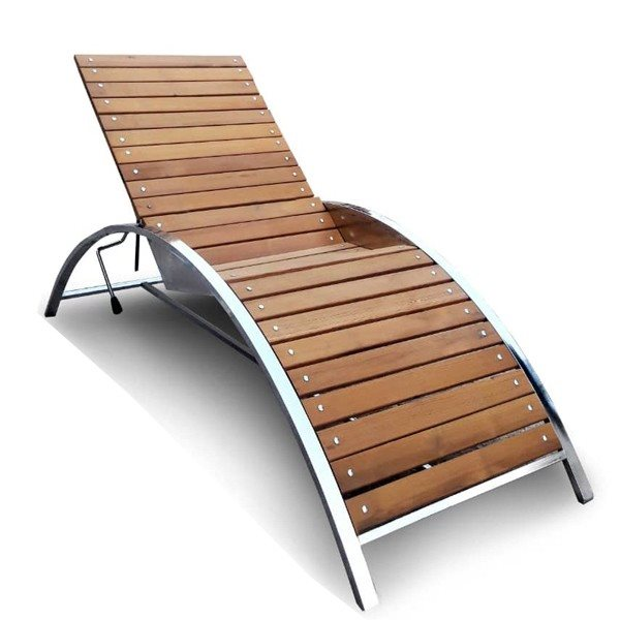 تصویر تخت کنار استخر آذران امرتات مدل Aquamarine