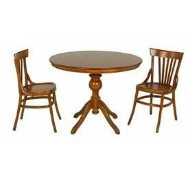 تصویر میز و صندلی ناهارخوری دایره اسپرسان چوب ۲ نفره مدل لهستانی کدm03