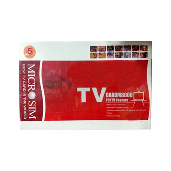 کارت TV کپچر میکروسیم مدل ام ۸۰۰۰   Microsim TV Card M8000 PCI Capture