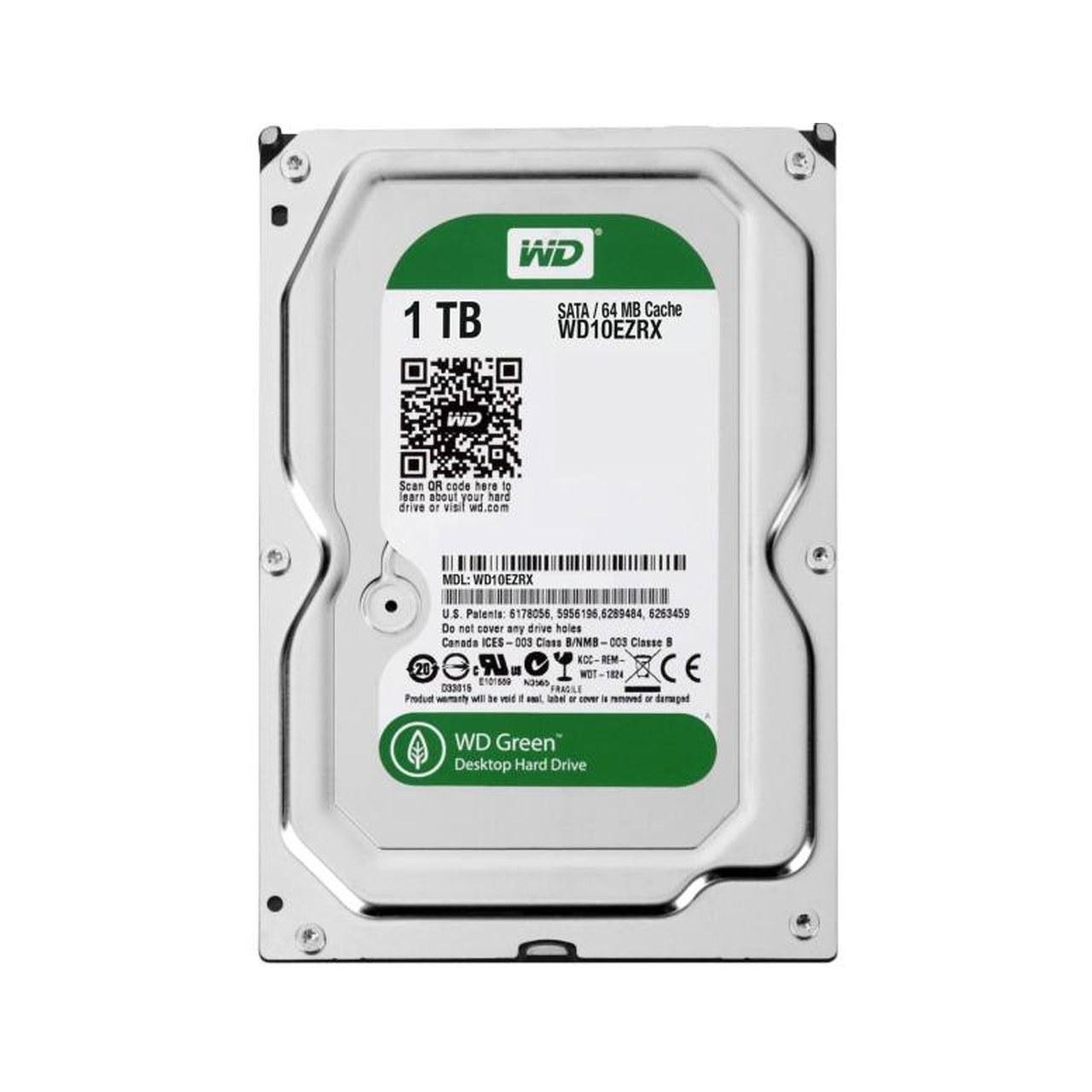 تصویر Western Digital Green WD10EZRX Internal Hard Drive - 1TB هارددیسک اینترنال وسترن دیجیتال سری سبز مدل WD10EZRX ظرفیت 1 ترابایت