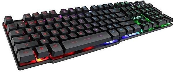 تصویر کيبورد مخصوص بازی مناسب گیم مدل جدید Ak600 برند اصلی آیمایس کیبورد گیمینگ Gaming Keyboard iMICE AK-600 New FOR GAME