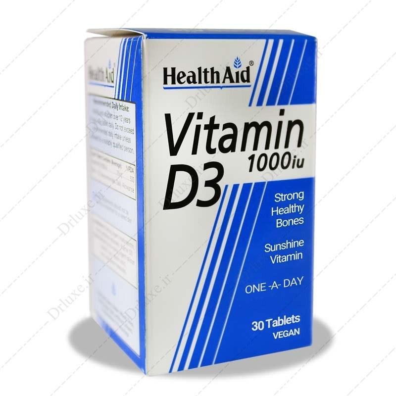 تصویر قرص ویتامین د3 1000 هلث اید Health Aid Vitamin D3 tabs