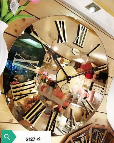ساعت دیواری آینه ای مدرن کد6127  