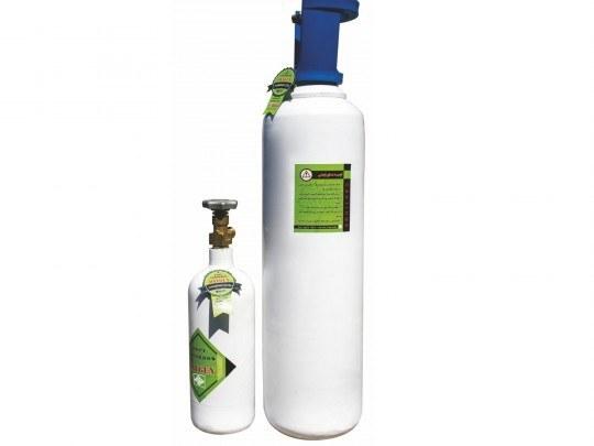 تصویر کپسول اکسیژن 10 لیتری استیل