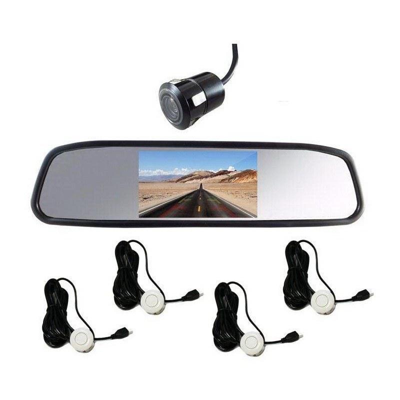 تصویر آیینه مانیتوردار، دوربین و سنسور دنده عقب کلارو مدل CL-409S