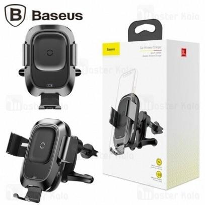 هولدر و شارژر وایرلس بیسوس Baseus Smart Vehicle Bracket Wireless Charger