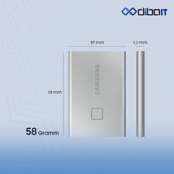 تصویر اس اس دی اکسترنال سامسونگ مدل T7 TOUCH ظرفیت 500 گیگابایت