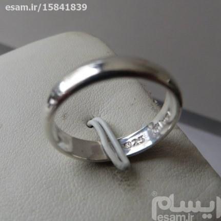 انگشتر اسپرت نقره رینگی ساده پهنای حلقه 3میل سایزانگشتر8بسیار ظریف و زیبا مناسب نامزدی | انگشتر حلقه اسپرت نقره 2.80g