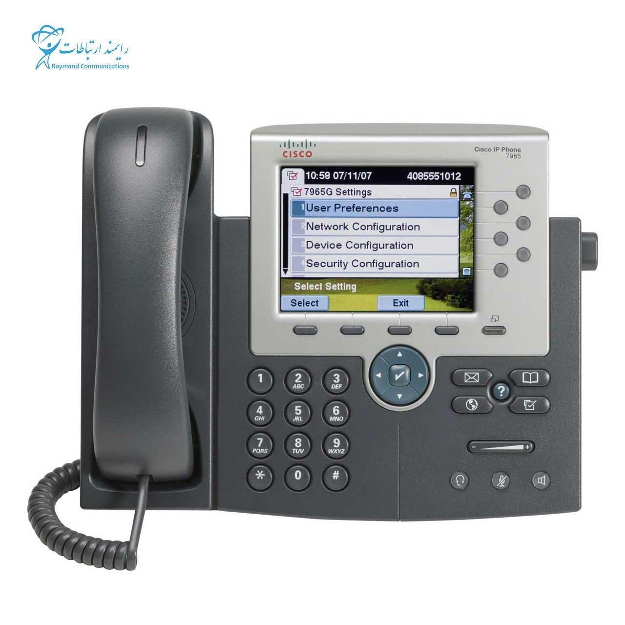 تصویر تلفن تحت شبکه سیسکو 7965G CISCO IP PHONE -CP-7965G
