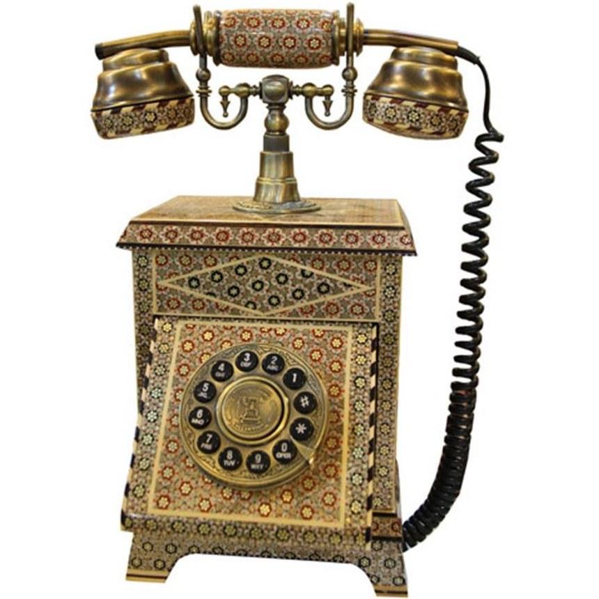 main images تلفن قدیمی خاتم کاری Phone khatamkari