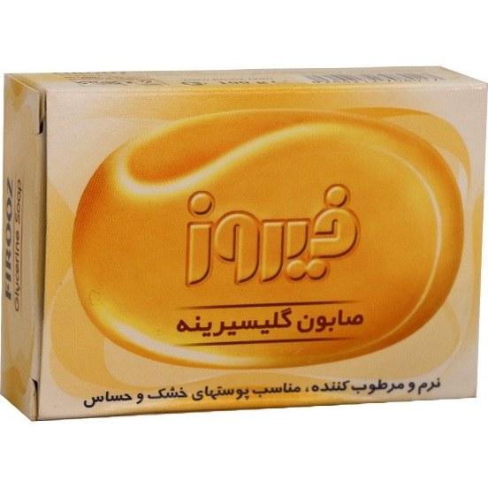 صابون گلیسیرینه فیروز مناسب پوست های خشک و حساس 100 گرم