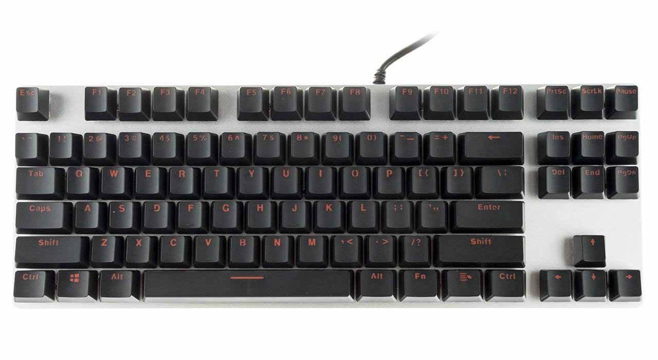 تصویر کیبورد مخصوص بازی مکانیکی رپو Keyboard Rapoo V500 Alloy Version