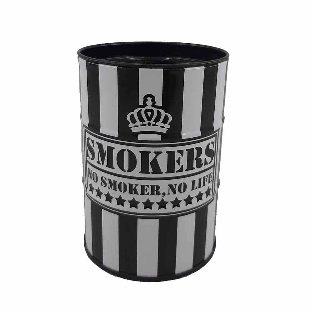 تصویر زیر سیگاری بشکه طرح  NO SMOKERS