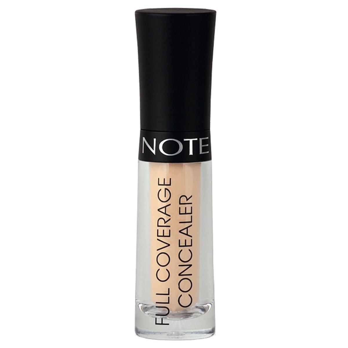 تصویر کانسیلر مایع نوت مدل Full Coverage شماره 01 - عاجی Note Full Coverage Liquid Concealer No.01 Ivory