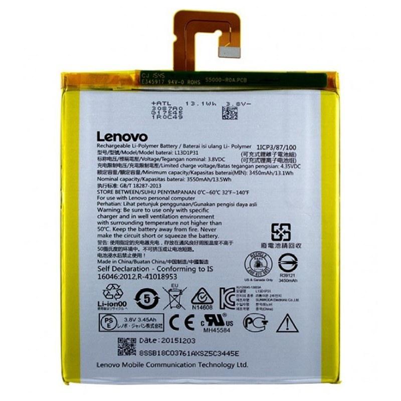 main images باتری لنوو A7-50 A3500 مدل L13D1P31 ظرفیت 3550 میلی آمپر ساعت Lenovo L13D1P31 3550mAh Battery
