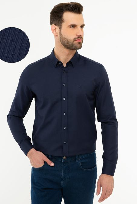 پیراهن آستین بلند پیر کاردین با کد G021GL004.000.1103069 3233828 | پیراهن آستین بلند مردانه پیر کاردین