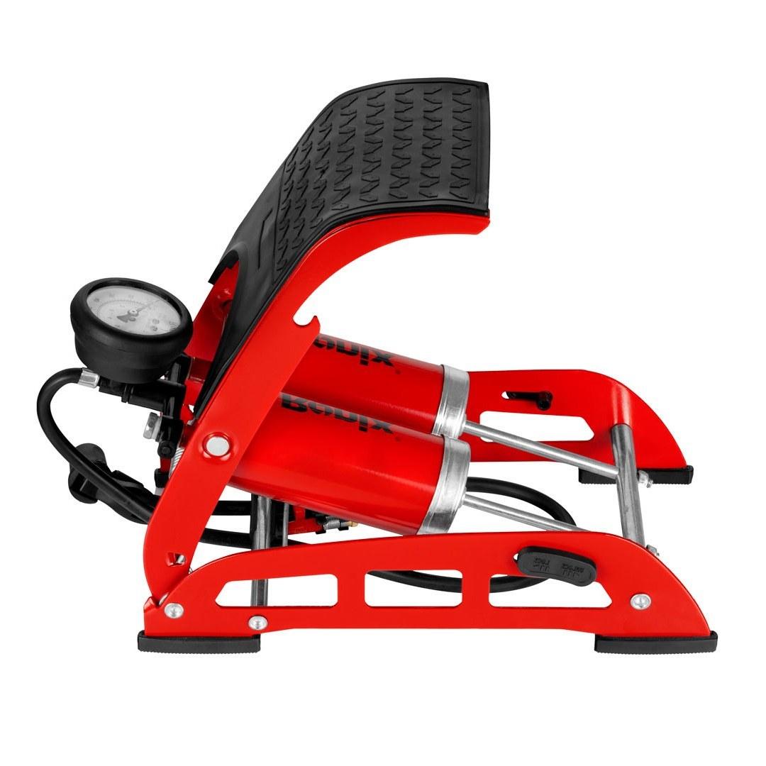 تصویر تلمبه پایی 2 سیلندر رونیکس مدل RH-4202 ا Ronix RH-4202 Twin Foot Air Pump Ronix RH-4202 Twin Foot Air Pump