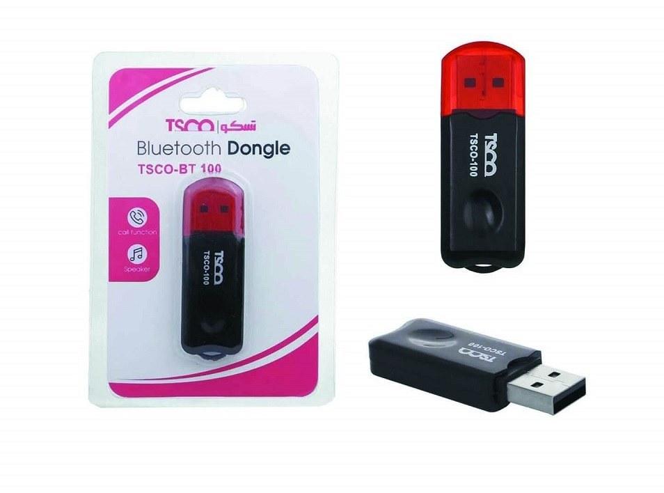 تصویر دانگل بلوتوث USB تسکو مدل TSCO BT100 TSCO BT100 Bluetooth USB Dongle