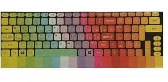 تصویر برچسب حروف فارسی کیبورد طرح پالت مدل 15-I مناسب برای لپ تاپ 15.6 اینچ