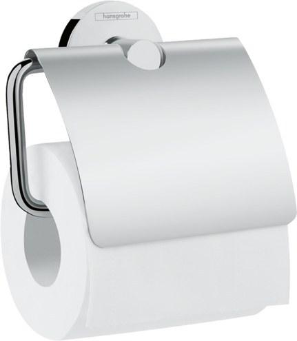 تصویر جا دستمال توالت هانس گروهه مدل Universal کد KH1040 Hansgrohe Logis Universal Roll holder with cover