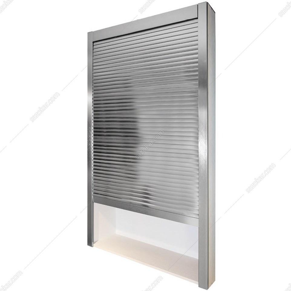 تصویر مکانیزم دستی درب کرکره ای PVC سیلور و ماتW120*H145  فانتونی مدل C073 ا Fantoni C073 Lift-UP Door Mechanism Fantoni C073 Lift-UP Door Mechanism