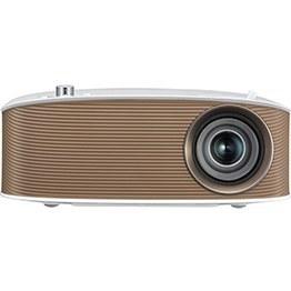 تصویر ویدئو پروژکتور ال جی LG PH150G (رنگ دیگر PH150B): قابل حمل، قابلیت اتصال USB، باطری دار، دارای وایرلس جهت نمایش بی سیم از آندروید و ویندوز، بلوتوث، روشنایی 130 لومنز، رزولوشن 1280x720 HD