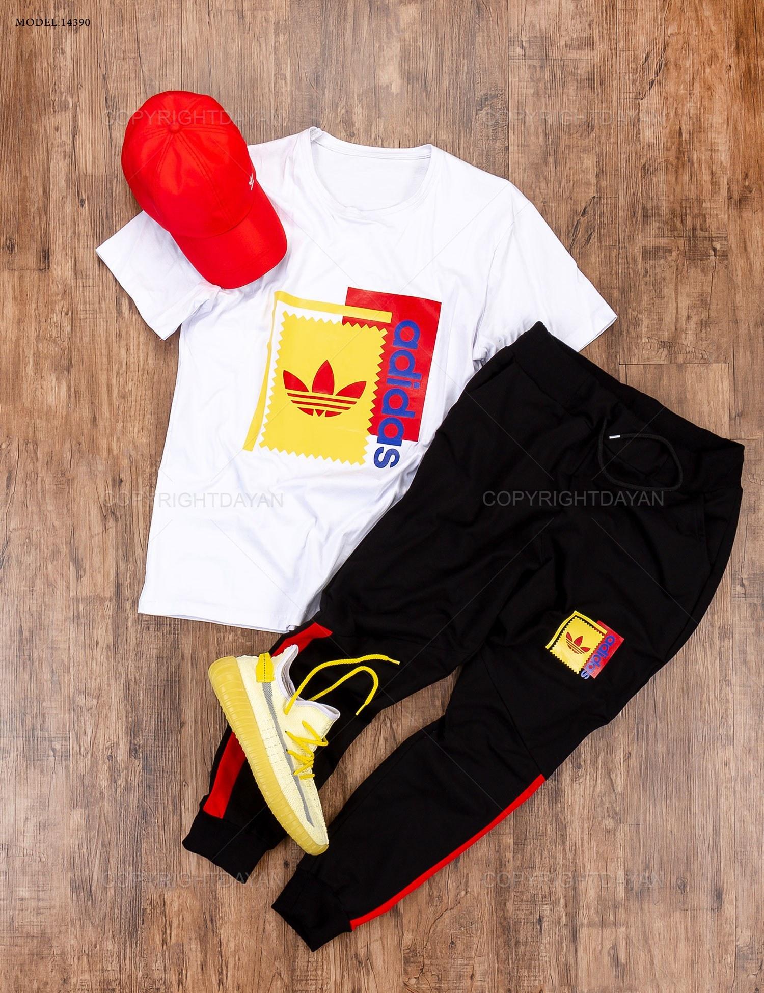 ست تیشرت و شلوار مردانه Adidas مدل 14390