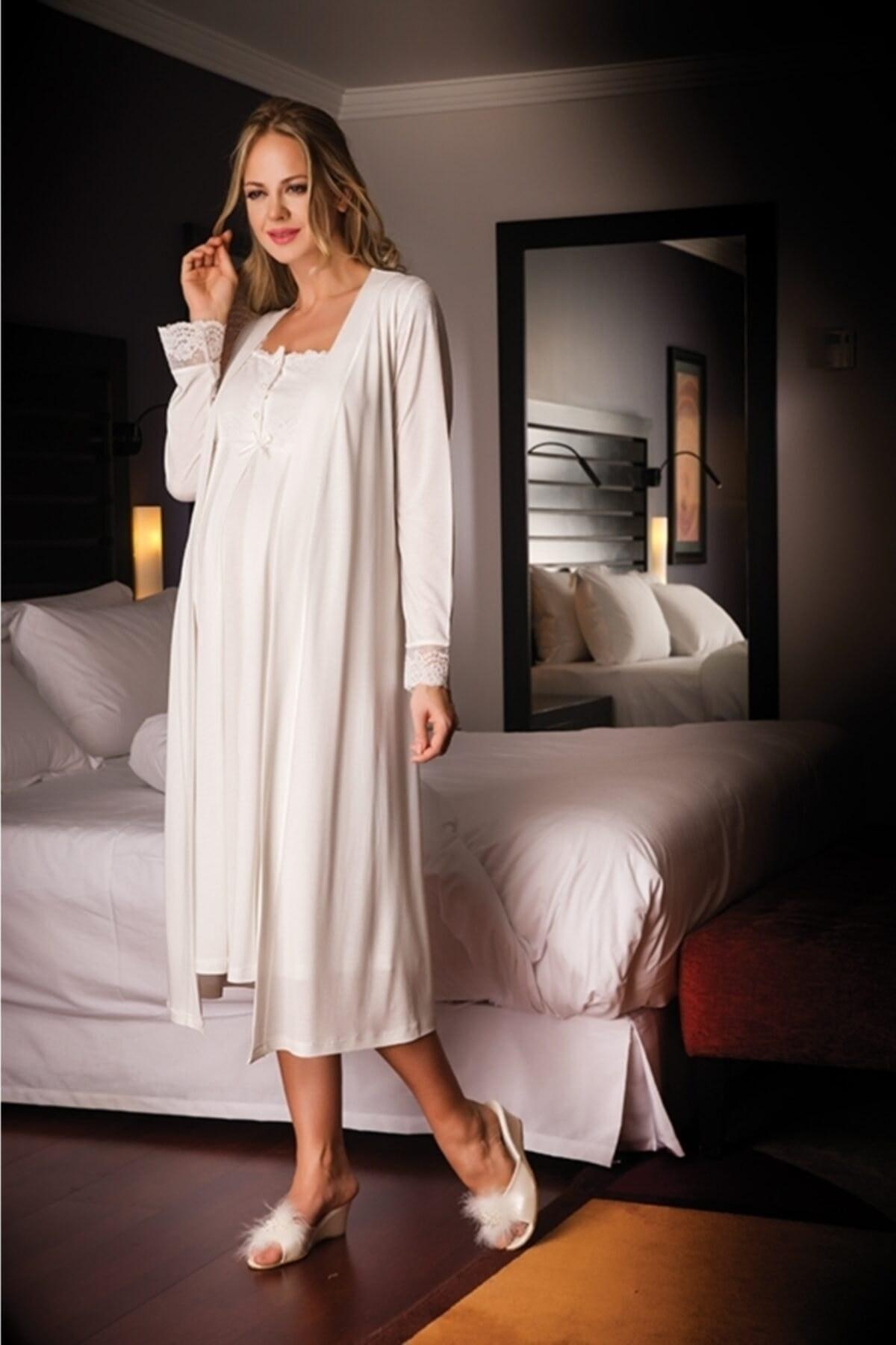 ست لباس شب 17209بارداری برند Bondy کد 1603931582