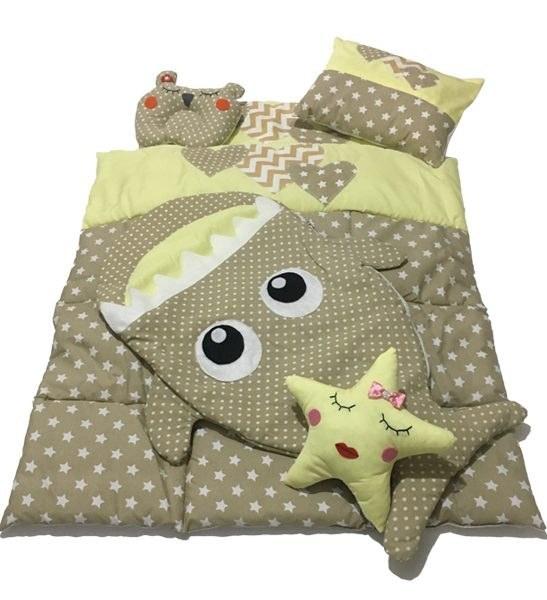 سرویس 6 تکه لحاف خواب کودک مدل ستاره