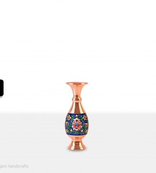 گلدان صراحی مس و پرداز