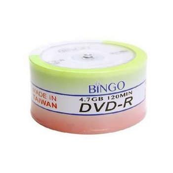 عکس دی وی دی خام بینگو بسته ۵۰ عددی Bingo DVD-R Pack of 50 دی-وی-دی-خام-بینگو-بسته-50-عددی