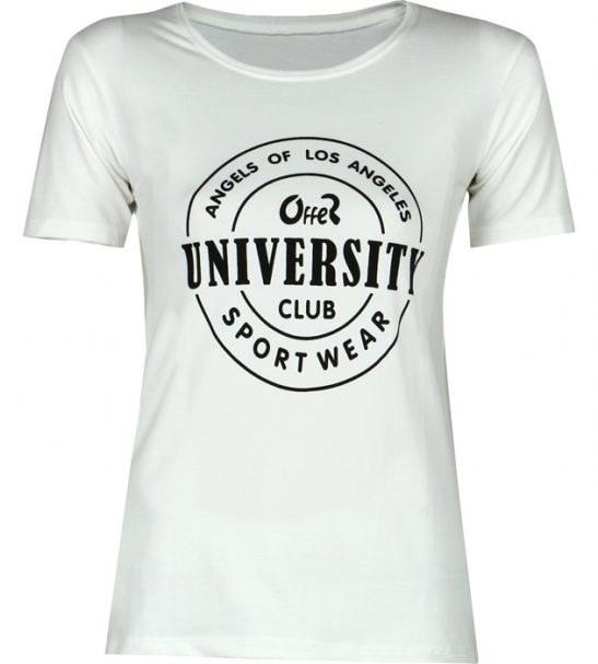 تی شرت زنانه طرح دار سفید