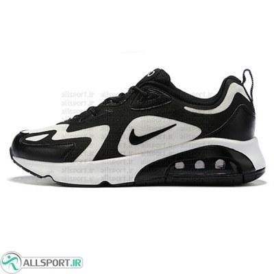 کتانی رانینگ مردانه نایک ایر مکس مشکی سفید Nike Air Max 200 Black White