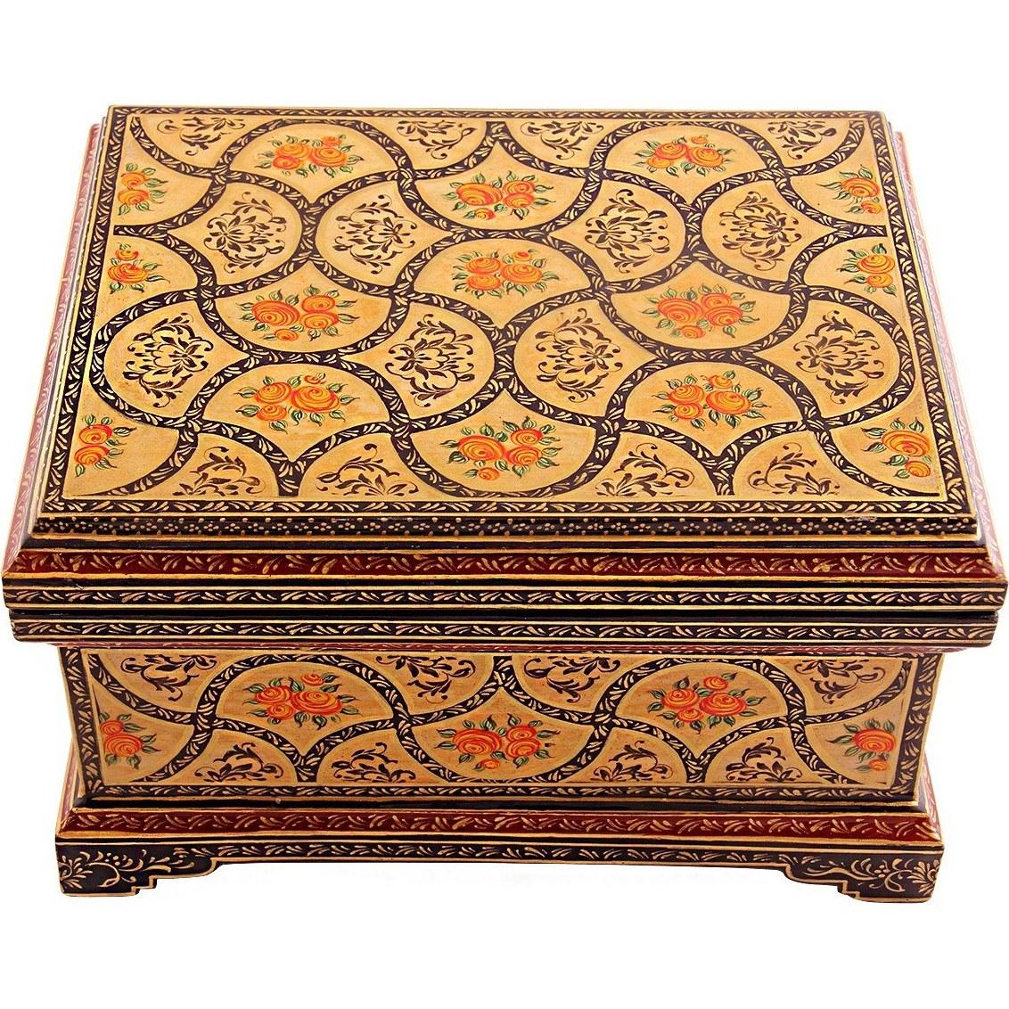 جعبه چوبی طرح واگیره اثر استاد سارنج