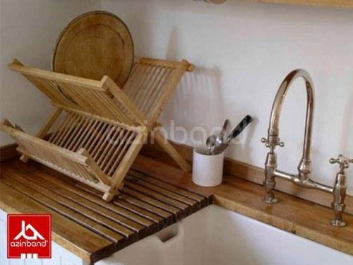 تصویر جاظرفی چوبی طرح ساده آبچکان چوبی با چوب راش