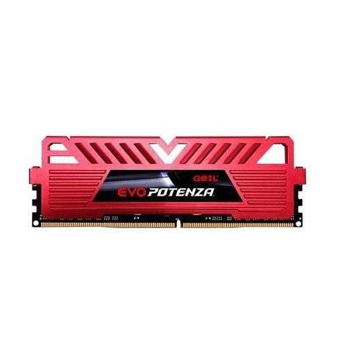 تصویر رم دسکتاپ DDR4 تک کاناله 3200 مگاهرتز CL16 گیل مدل Potenza ظرفیت 8 گیگابایت Geil Evo Potenza DDR4 3200MHz CL16 Single Channel Desktop RAM - 8GB