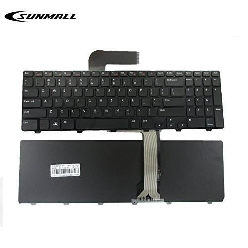 صفحه کلید N5110 برای DELL Inspiron ، صفحه کلید لپ تاپ تعویض SUNMALL با قاب برای DELL Inspiron 15R N5110 M501Z M511R Ins15RD-2528 2728 2428 (6 ماه ضمانت)