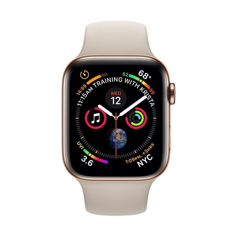 اپل واچ سری 4 آلومینیوم خاکستری با بند اسپورت لوپ مشکی | Apple Watch S4 GPS - Space Gray - Black Sport Loop Band - 44mm