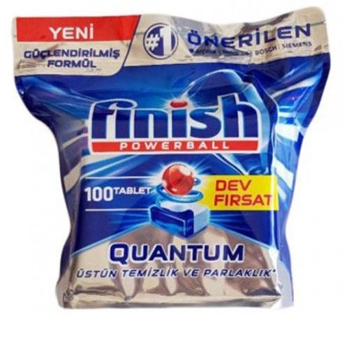 تصویر قرص ماشین ظرفشویی فینیش کوانتوم ۱۰۰ عددی FINISH
