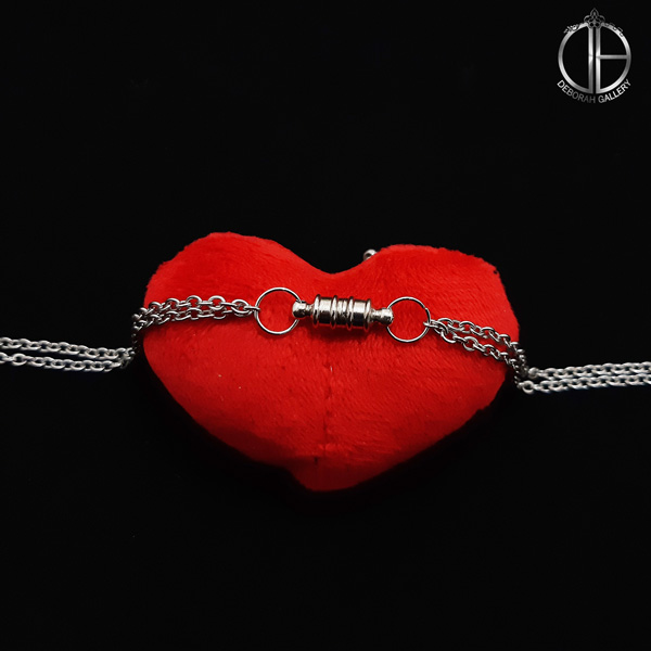 تصویر دستبند آهنربایی عاشقانه استوانه ای
