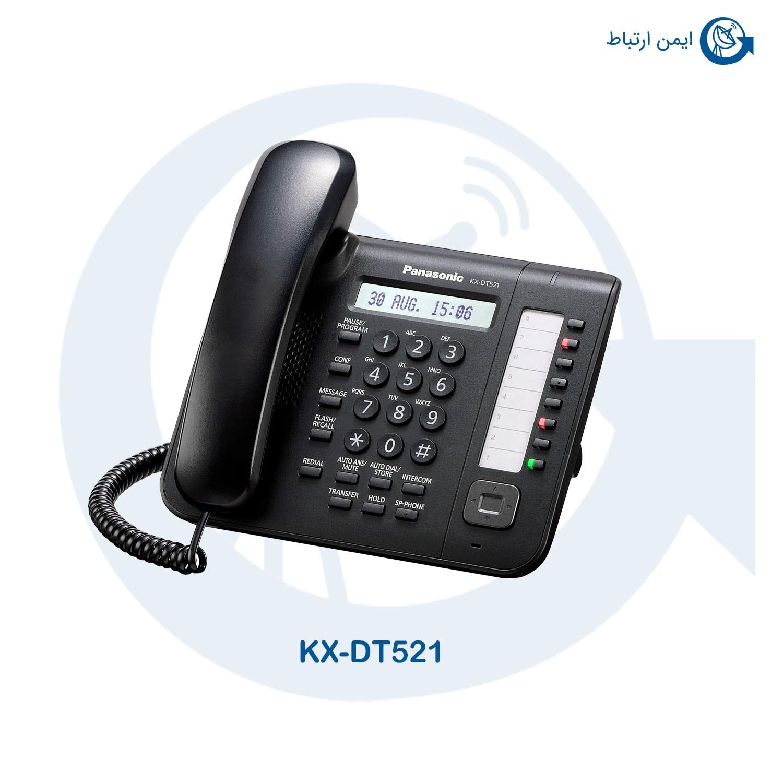 تصویر تلفن ثابت رومیزی پاناسونیک  PANASONIC TELEPHONE KX-DT521