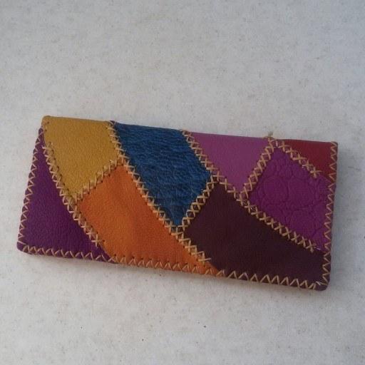 کیف پول چهل تیکه رنگین کمانی |