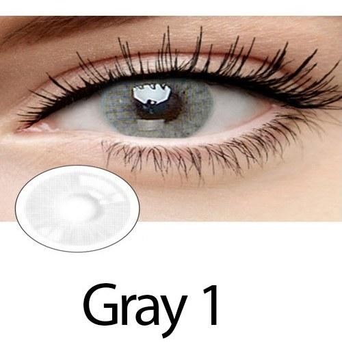 تصویر لنز رنگی چشم خاکستری لاکی لوک مدل Gray 1 Lucky Look Beauty soft contact lensplatin Gray1