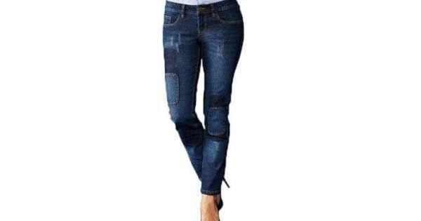 شلوار جین زنانه طرح دار
